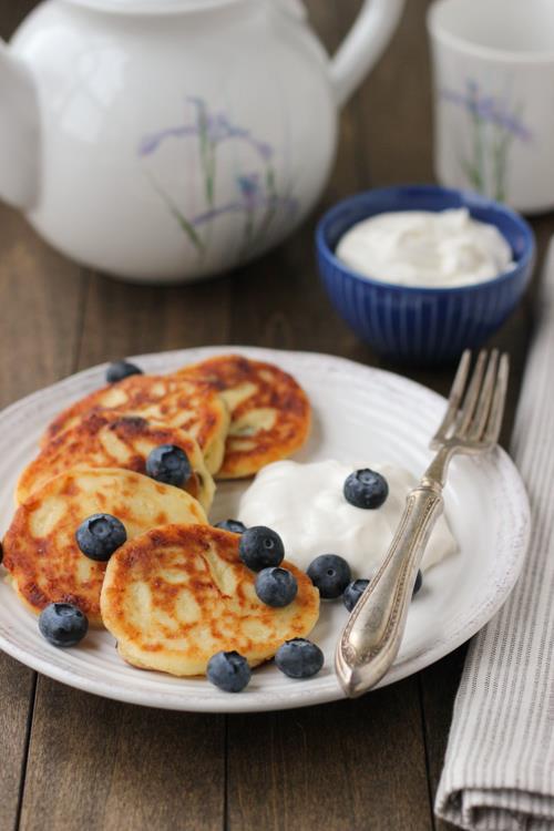Ricotta cheese pancakes (Sirniki)