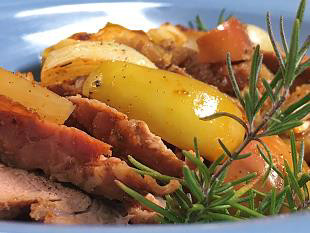 Roasted Pork with Apples and Onions