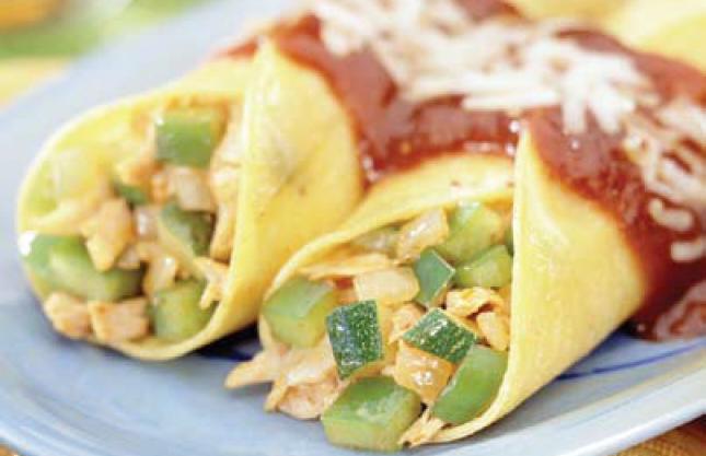 Vegetable Chicken Enchiladas